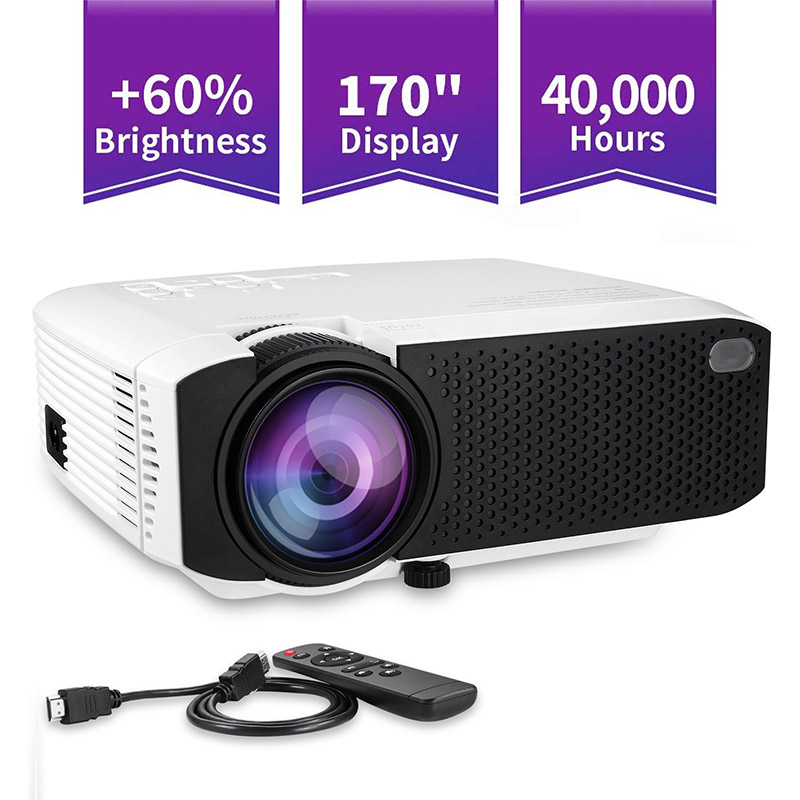 Projector High Resolution Connect Smart Phone Durable For Home Cinema Theater Office SL@88 projector hd 1080p mini portable support tf card durable for home cinema theater new sl 88