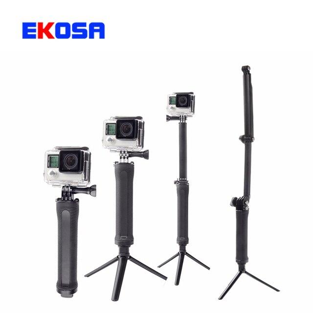Selfieスティックアクションカメラ一脚用移動プロ3行くプロ5 eken xiaomi yi 4 k selfieスティック三脚selfipalkaカメラスタンドゴリラポッド