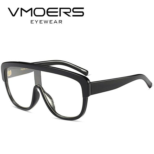 VMOERS Oversized Siamese Clear Fake Eyeglasses Frames Women Fashion ...