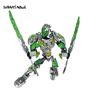 Image 5 - Smartable BIONICLE Uxar Creature of Jungle+Lewa Jungle Keepter Building Block Toy Set For Boy Compatible All Brands 71300+71305