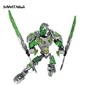 Image 5 - Smartable BIONICLE Uxar yaratık of orman + Lewa orman Keepter yapı taşı oyuncak seti çocuk için uyumlu tüm markalar 71300 + 71305