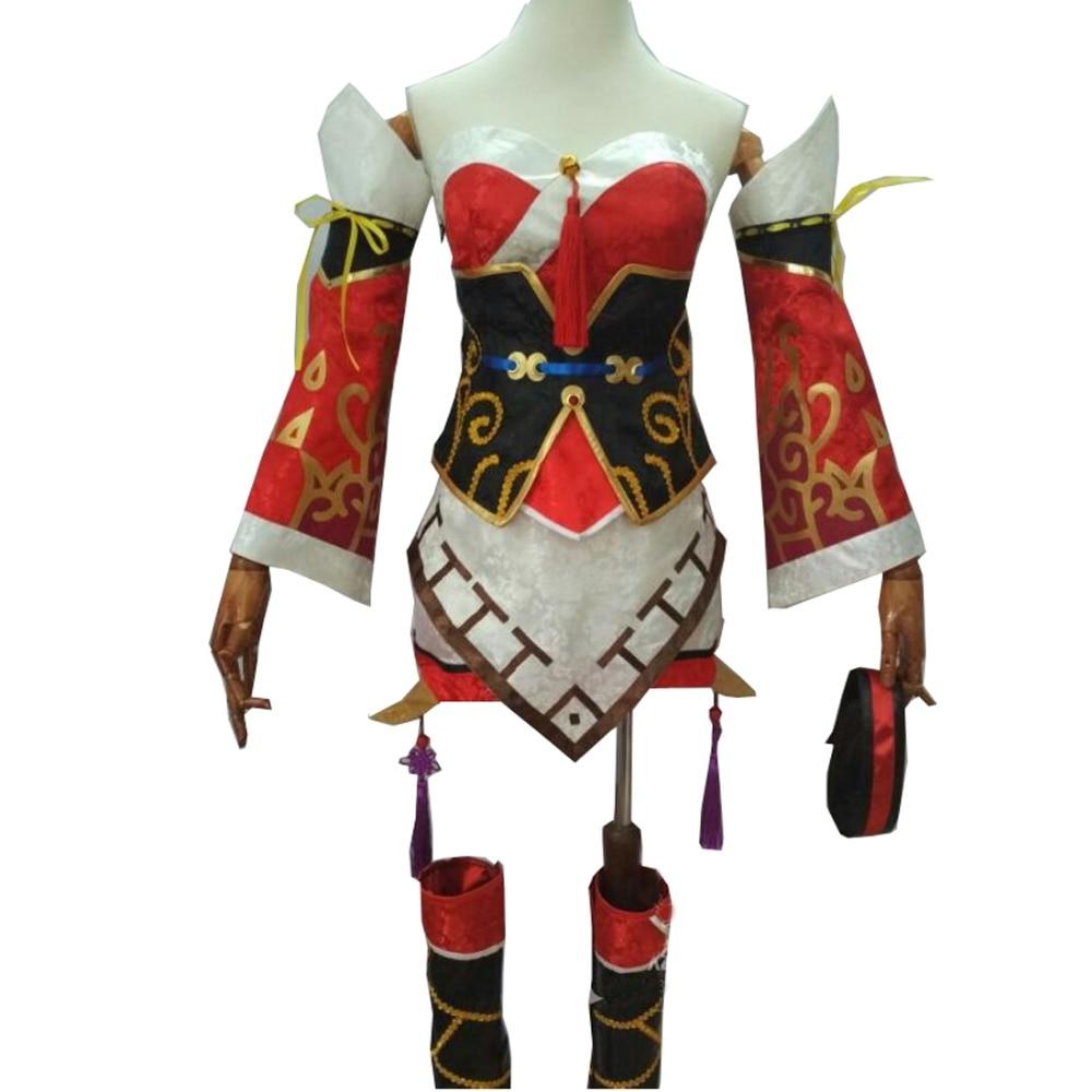 2018 LOL Game The Nine-Tailed Fox Ahri Cosplay Costume Ahri Dress New CG Version