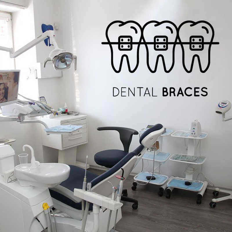 Repair Fixed Teeth Creative Removable Wall Stickers For Dental Clinic Background Art Decoration Vinyl Wallpaper Poster L791 Aliexpress