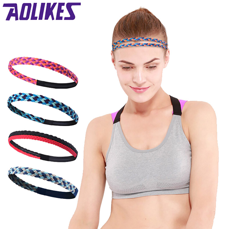 2018 New Wholesale Women Men Elastic Sports Football Non-slip Yoga Headscarf Hairband Headbands 1 Piece