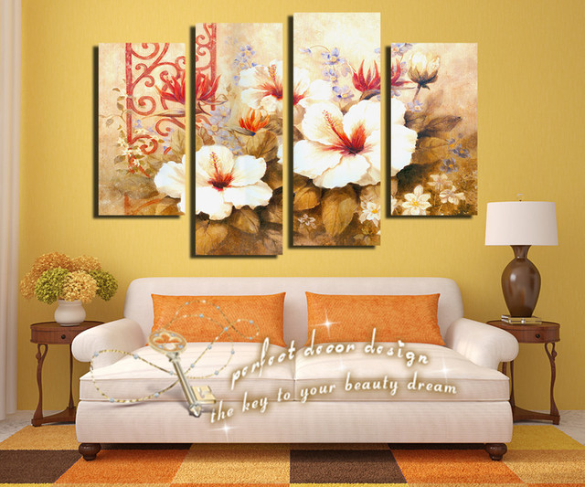 Traditional Impression Luxicious Flowers Golden Color Classic Time ...