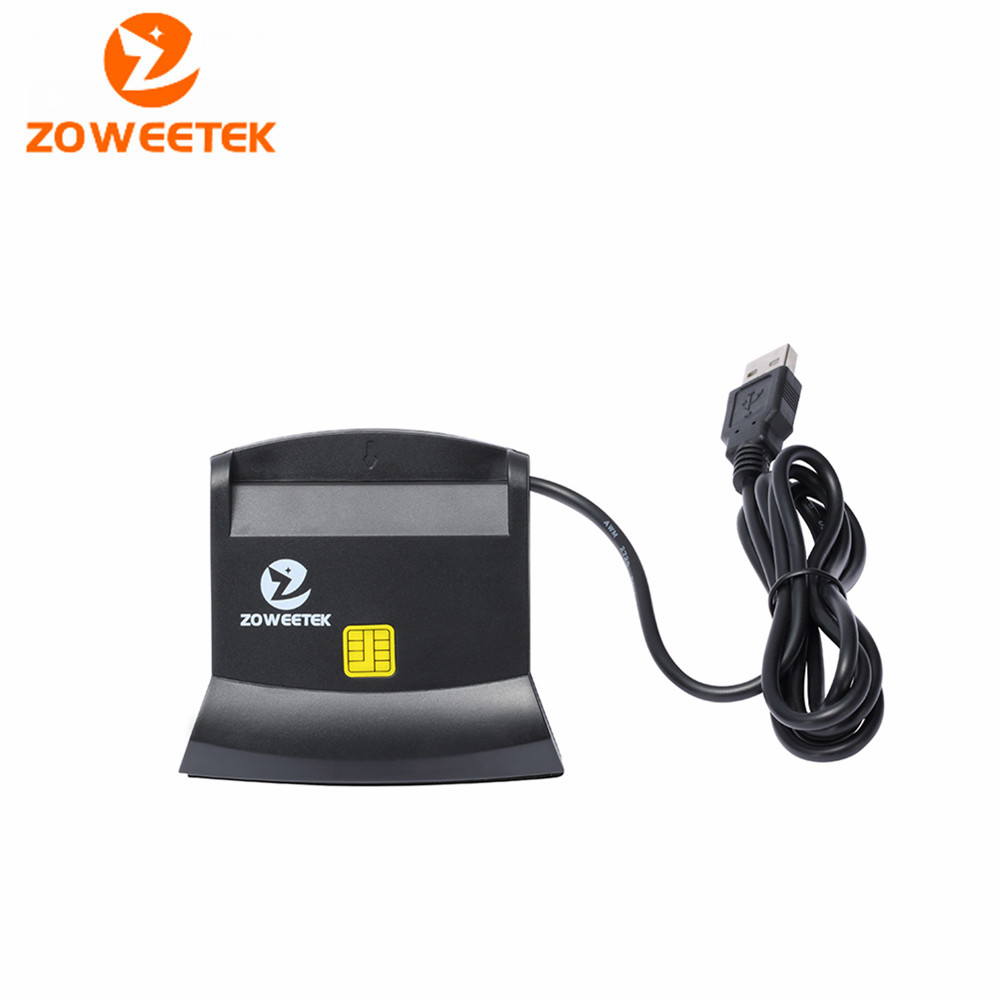 Zoweetek 12026-6 DOD Military USB Smart Card Reader / CAC Common Access Card Reader