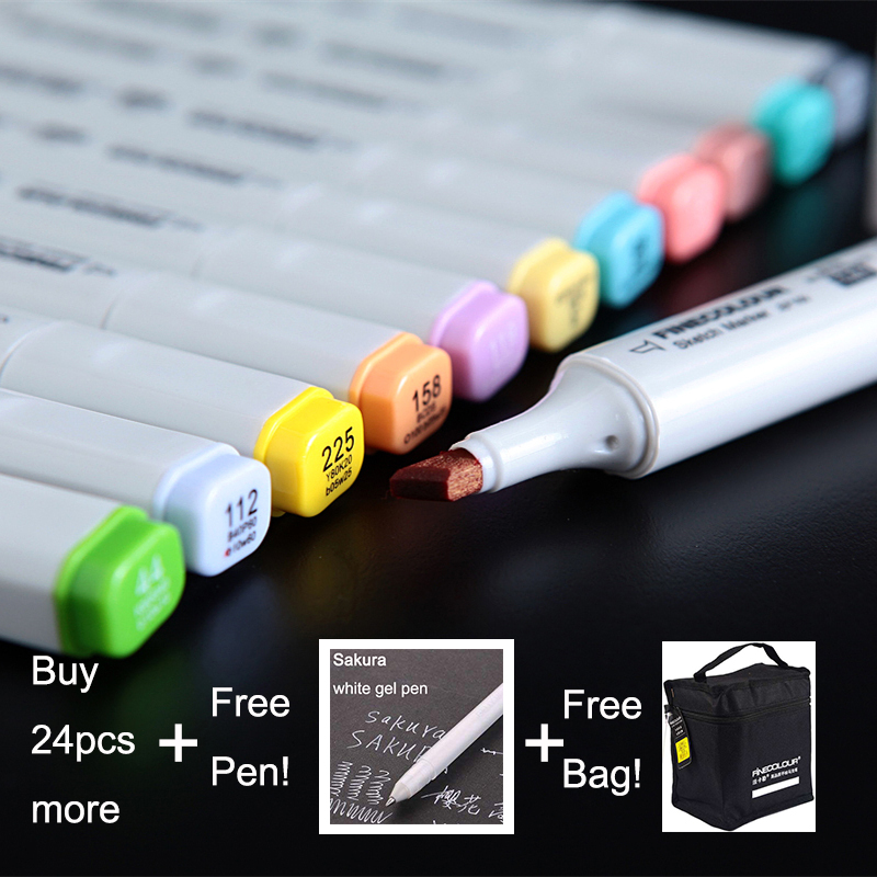 LifeMaster Finecolor Large Capacity Professional Art Marker for Animation Design Twin Markers Alcohol Based Ink touchnew 60 colors artist dual head sketch markers for manga marker school drawing marker pen design supplies 5type