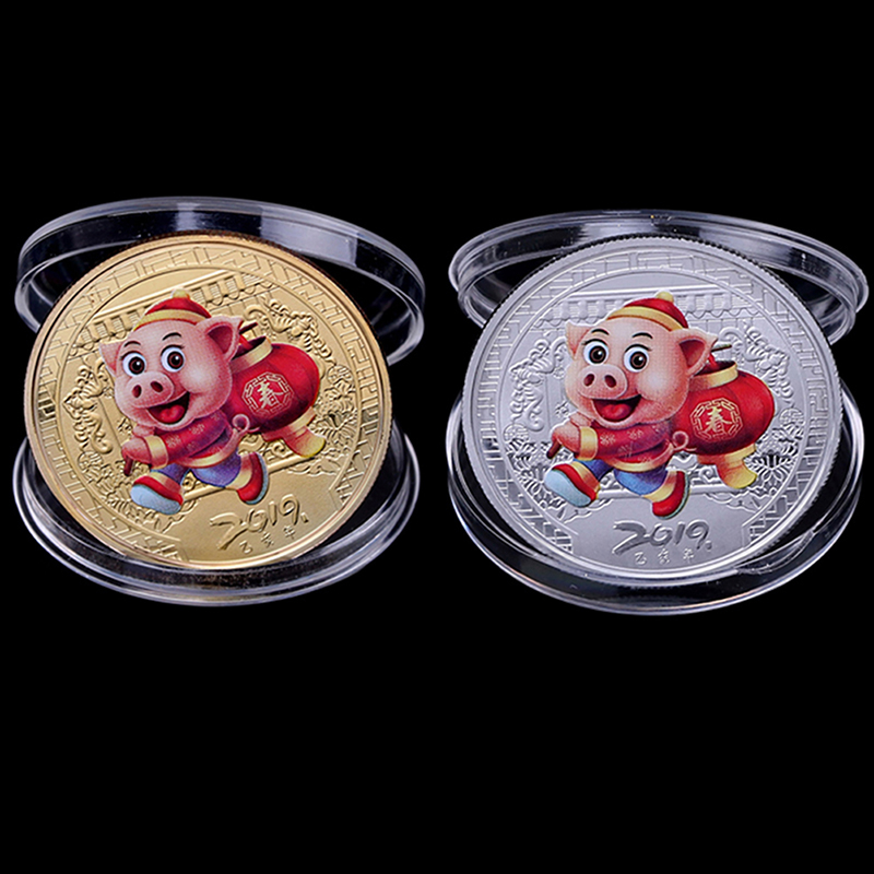 2019 China Panda Commemorative Coin Gold Plated Souvenir Coin Tourism Gift In KA