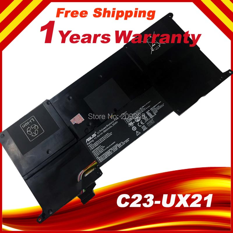 ФОТО 100% New Original Genuine battery C23-UX21 Battery for Asus ZenBook UX21A UX21E Ultrabook 7.4V 35wh Free shipping