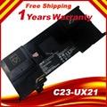 100% nueva batería original genuina c23-ux21 batería para asus zenbook ux21a ux21e ultrabook 7.4 v 35wh envío gratis