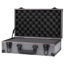 Kleine Harte rast Aluminium Flug Fall Werkzeug Lagerung Box Kamera Fotografie DJ Schaum schneiden trolley werkzeug tasche