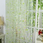 Burnout Floral Tulle Scarf Sheer Voile Window Curtains Drape Panel Valance Curtains Blinds Drapes for Bedroom