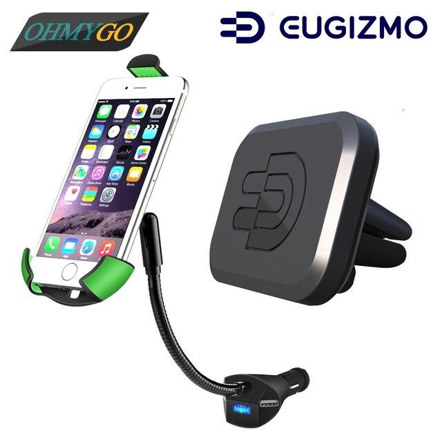 Автомобильный Держатель Телефона Крепление с 3-pors USB Зарядное Устройство + Автомобиль Магнитные Vent Держатель Подставка для IPhone Samsung HTC Universal Смартфонов