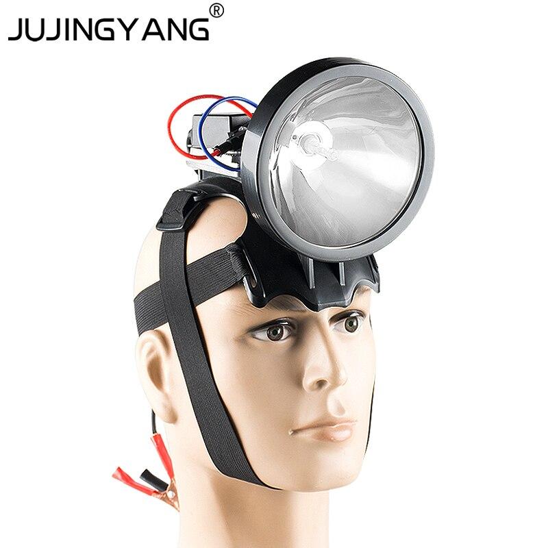 JUJINGYANG 12V 35W-55W-65W-75W-100W h3 xenon headlamp Built in ballast headlight HID head flashlight for hunting,camping,fishing 12v hid ручной свет 35w 55w 65w 75w 100w 160w 220w h3 ксеноновая лампа портативный прожектор flahslight для охоты кемпинга