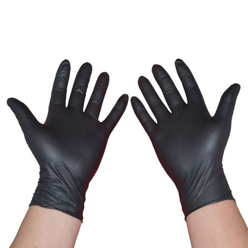 10 Pairs/Pack Acid And Alkali Extra Strong Medical Black Free Nitrile Disposable Gloves Electronics  Food  Medical  Laboratory|Safety Gloves| |  -