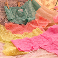 Women's Sexy Seamless Full Lace Solid Candy Color Panties Thongs 6 Pcs/Lot  + Free Shipping