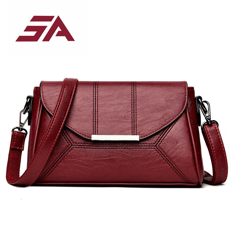 SA Fashion Designer High Quality Handbag Women Leather Striped Sequined Shoulder Bags Sac a Main Crossbody Bag Ladies Messenger playboy vip collection мужские повседневные брюки прямые стройные брюки