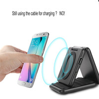 Qi Bezprzewodowa Ładowarka Samochodowa Uchwyt Telefonu Banku Zasilania Nadajnika S8 i Qi Wireless Charging Pad dla Samsung Galaxy z Obsługą urządzenie