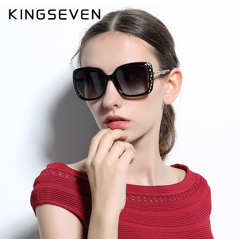 KINGSEVEN Original Solbriller Kvinner Polarisert Elegant Butterfly Design For Ladies Sun Glasses Kvinne Oculos De Sol Shades 7543