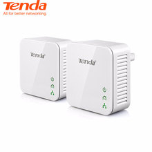 Tenda 1Pair P202 Mini 200Mbps PowerLine Ethernet Adapter,PLC adapter, Compatible with Wireless Wifi Router, IPTV, Plug and Play