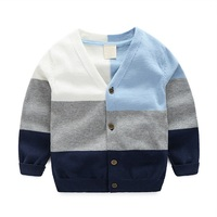 Autumn Boys Cardigan Casual Children Sweater For Girls Long Sleeve O Neck Kids Sweater Cotton Soft