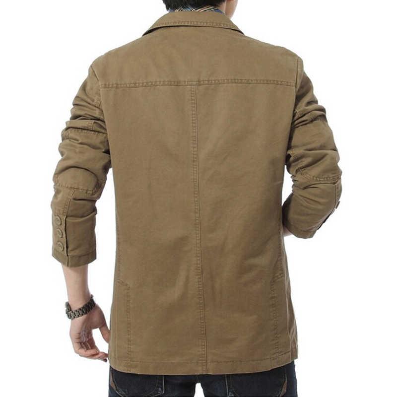Drop shipping men casual blazers masculino man suits cotton slim fit men jackets outwear M-4XL ABZ28