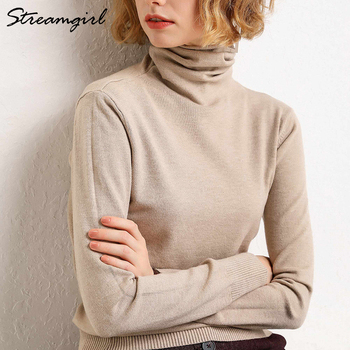 Women's Turtleneck Cashmere Sweater Women Warm Jumpers Ladies Pullover Autumn Winter Women's Sweaters Black Sweater Turtleneck turtleneck husky turtleneck