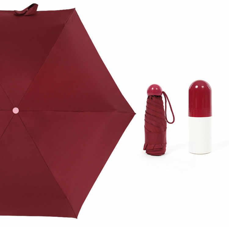 Mini capsule pour femme avec parapluie transparent, parapluie anti-station d'eau