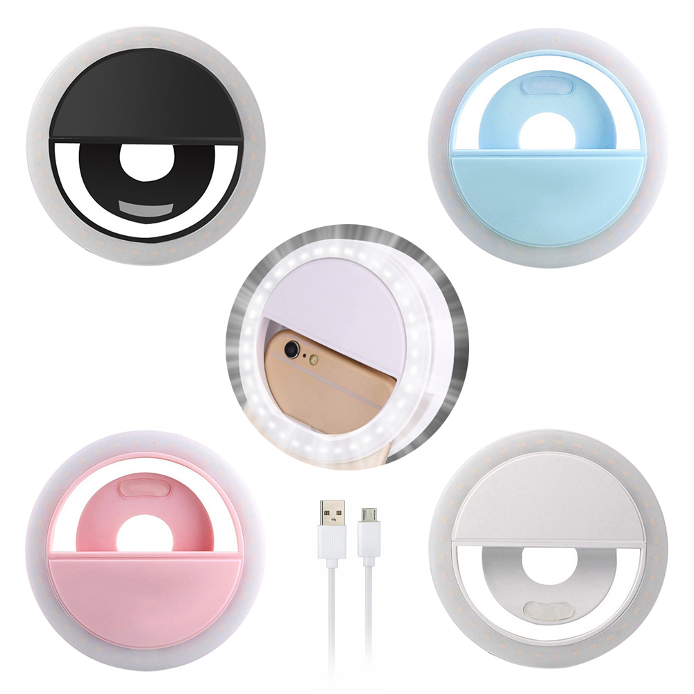 LED Round Beautify Self-timer Fill Ring Selfie Light Smart Phones Photography Lamp Professional Camera Lights For Women Streamer