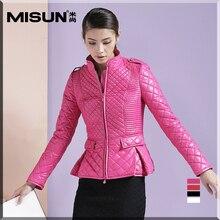 Misun весной 2017 женщин ультра-тонкий короткий дизайн небольшой хлопка-ватник ватные куртки мода пальто
