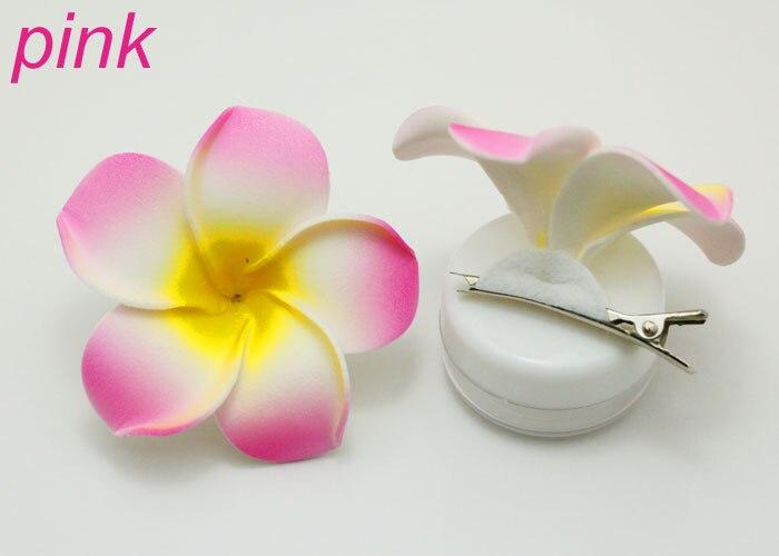 10 pcs 9 colors  Hawaiian Plumeria Foam Hair Accessory Flower Hairpin Hair Clip
