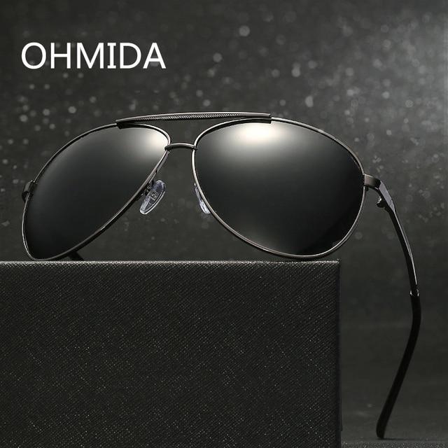 e3987a057727f OHMIDA Polarized Sunglasses For Men 2017 Brand Designer Sun glasses Women  Man Vintage Metal Eyewear oculos feminino de sol