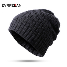 2018 Hot Sales Knitting Hat Winter Hat For Man Skullies Beanies Warm Cap Man Beanie Hat High Quality Headgear Drop Shipping(China)