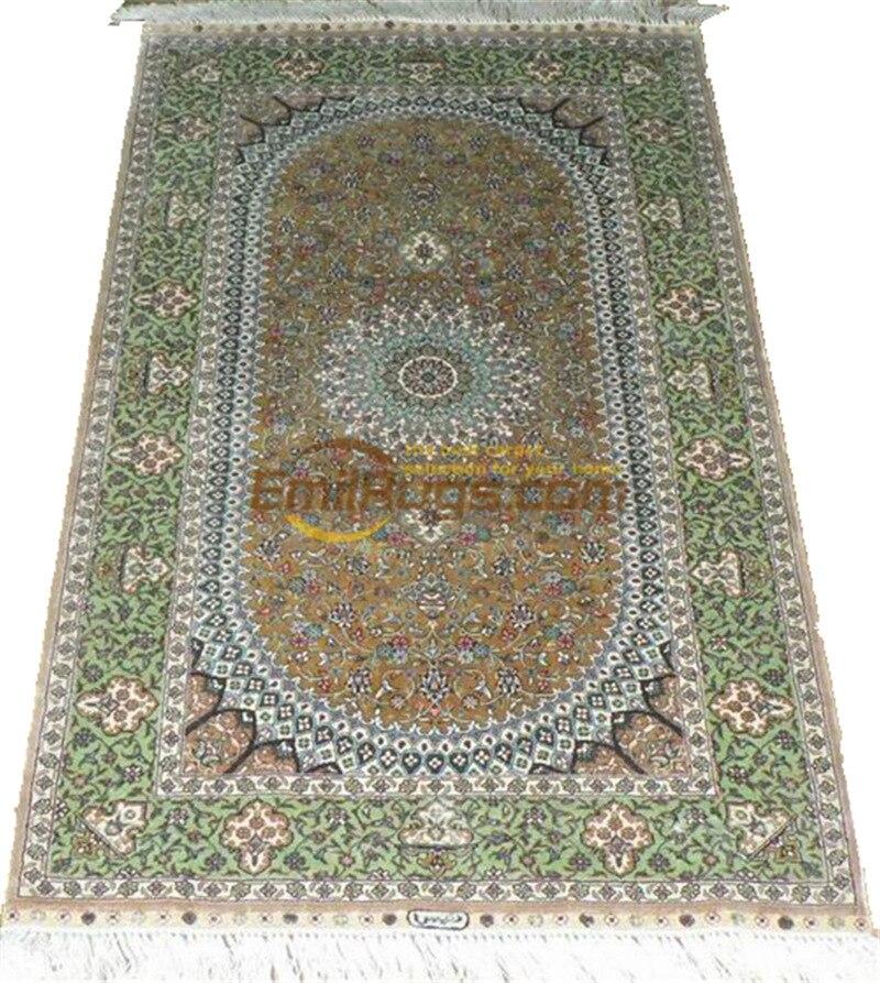 Laine ou soie persan tissé à la main coureur tapis chambre étage décoration pour salon laine tricot tapis Art tapis