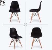 2018 Chair 4 Pieces Of Set Modern Simple Leisure Coffee Design Stylish Plastic Dining Chairs Wooden