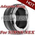 Envío libre! al por mayor para Nikon Lente para NEX E Adaptador de Montaje NEX-7 NEX-5 NEX-3 NEX-VG10 oferta OEM