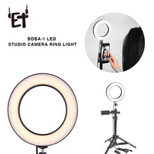 Et Mini Led Camera Ring Licht Met Statief Camera Selfie Licht Ring Voor Iphone Statief Voor Video Fotografie Youtube live(China)