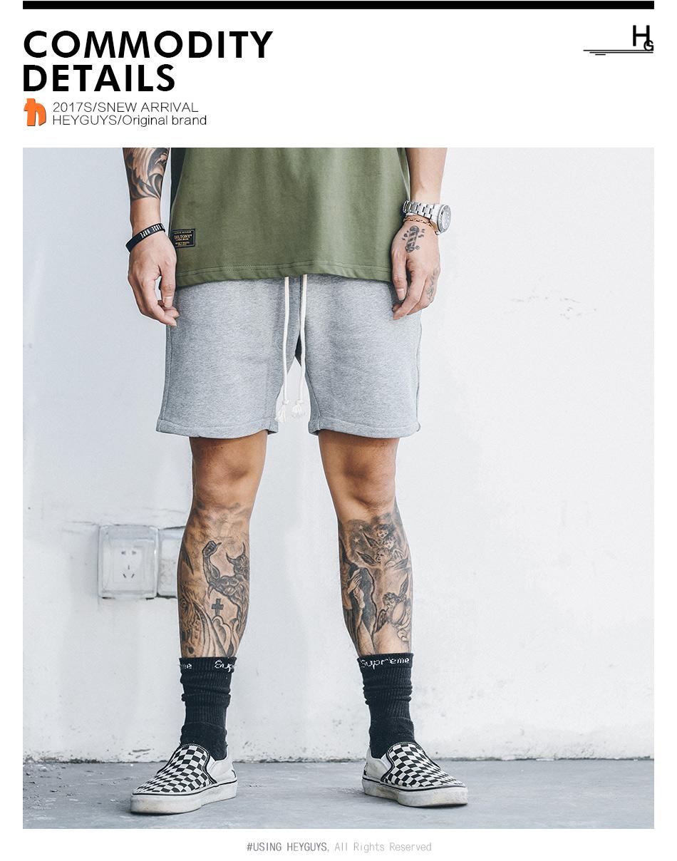 3f76210f9c HEYGUYS 2018 Hot Sale Men's Summer Fashion sweat Shorts Casual Elastic  Waist Shorts men high quality street wear hip hop