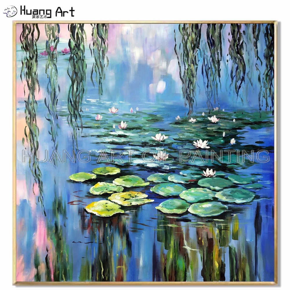 Us 59 85 50 Off Skill Artist Hand Painted High Quality Monet Oil Painting For Room Decor Lotus Landscape Oil Painting Water Lily Pond Painting In
