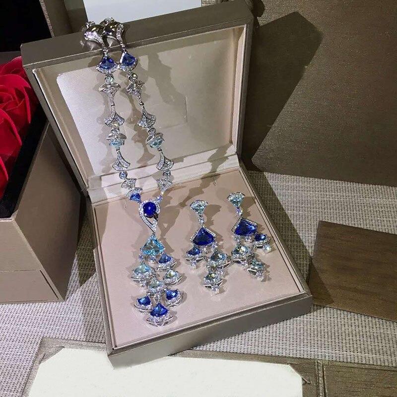 Nouveau 2019 collier de mode collier en cristal et pendentif fleur bijoux ras du cou de luxe pour les femmes fille fête