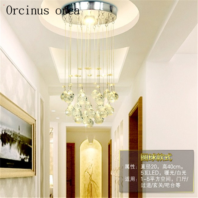 New Suspension Hanging Crystal LED 3W mini Ceiling Lamp Corridor Balcony Aisle Hallway Lights Living Room Indoor Lighting - 3