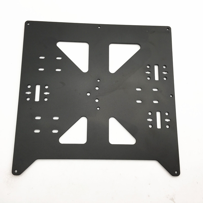 Funssor Reprap Prusa i3/Anycubic MEGA i3 black anodized Aluminium alloy heated bed support Y carriage tray for 3D printer aluminum y carriage anodized plate upgrade v2 prusa i3 v2 hot bed support plate for prusa i3 reprap diy 3d printer parts