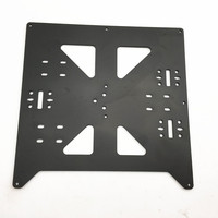 Funssor Reprap Prusa i3/Anycubic MEGA i3 black anodized Aluminium alloy heated bed support Y carriage tray for 3D printer
