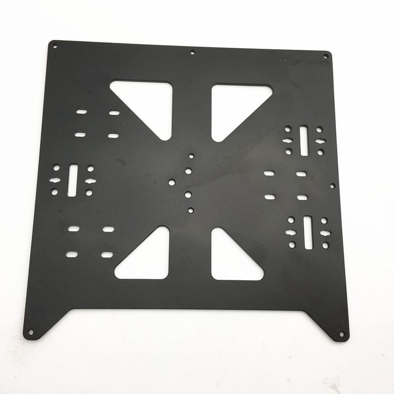 Funssor Reprap Prusa i3/Anycubic MEGA i3 noir anodisé En alliage D'aluminium chauffée lit appui Y transport plateau pour 3D imprimante