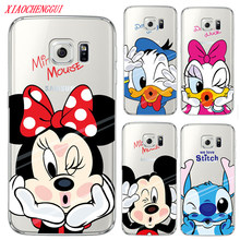 Untuk Samsung Galaxy S7 Case Mickey Minnie Case For Coque Samsung GALAXY Grand Prime S3 S4 S5 S6 S7 Edge s8 S9 Plus Cover(China)