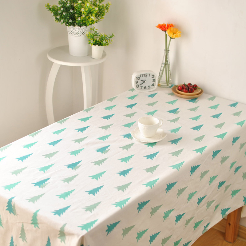 korean literary fresh small pine table cloth cotton cloth. Black Bedroom Furniture Sets. Home Design Ideas