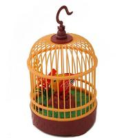 Electric Voice Activated Bird Pets Music Singing Bird Baby Toys With Birdcage Christmas Gift For