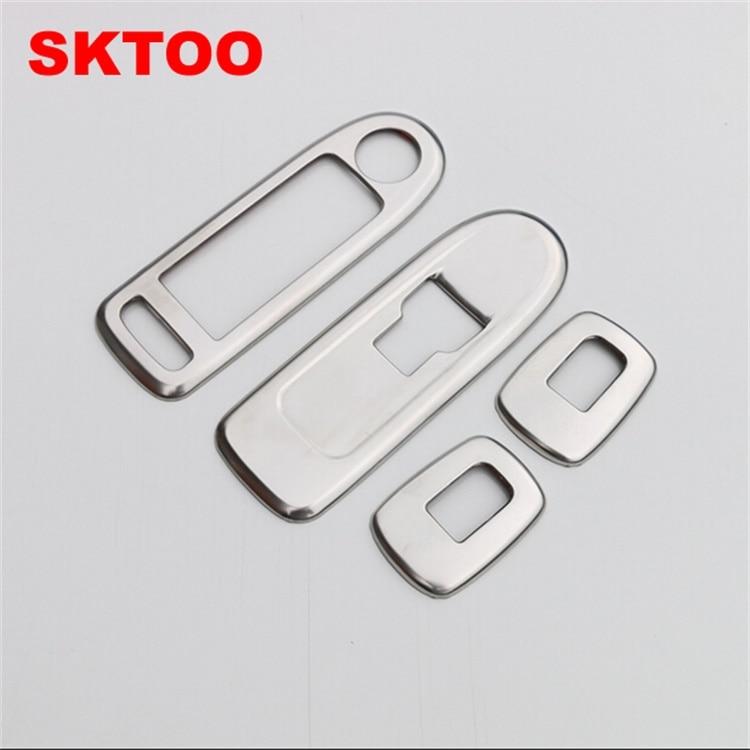 SKTOO For 2015 Peugeot 508 Citroen C5 Accessories Door Window Lifter Protection Chrome Trim Strip Interior Decoration Stickers