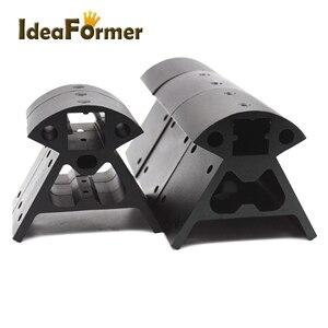 Image 4 - 1 مجموعة زوايا 3D طابعة أجزاء إطار Reprap جميع المعادن دلتا 3 صغيرة أعلى + 3 كبيرة أسفل 2020 الألومنيوم سلسلة الشخصي فيرتكس كوسيل
