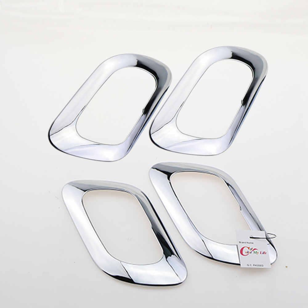 Color My Life ABS cromados para manija de puerta interior cubierta protectora de etiqueta para Peugeot 3008, 2013, 2014, 2015 4 unids/set